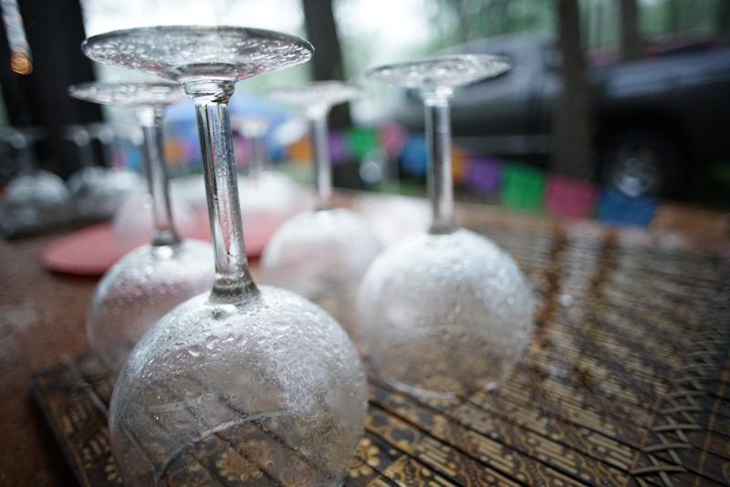 Beads of rain