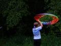 Night hula hooping