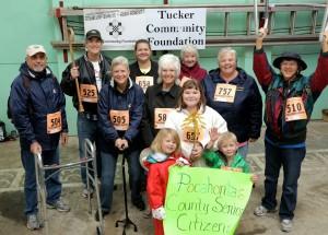 Team Pocahontas County Senior Citizens. Team Captain Sally Lovelace;  Photo Credit Verglas Media