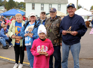 Photo credit Verglas Media   (Front) Elizabeth Knotts (Kasson Eagles), 2nd row Judy Buckner Larry (Philippi Bookworms), Tammy Smith (Belington Bookaneers), Ralph Baumgardner and Richard Marsh (Freedom Marchers); back row  Jeff Powelson (Barbour County Team Health)