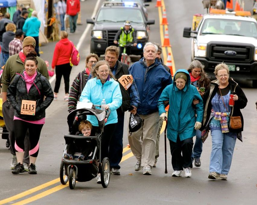 Racers of all ages and abilities race for their favorite community cause.