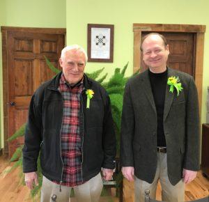Mayor Matt Quattro and resident Joe Dumire take action to preserve local cemetery