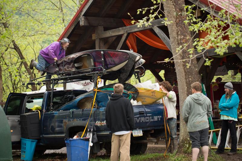 Paul Schreiner loading boats